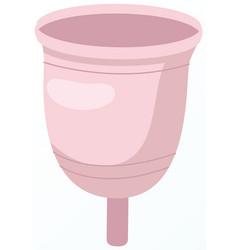 eco friendly washable menstrual cup zero waste vector image