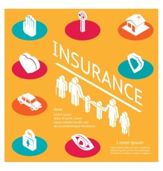 Family insurance concept vector