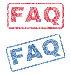 Faq textile stamps vector