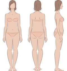 female silhouette vector image