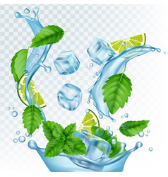 Fresh drink realistic water vector