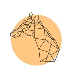 geometric head of a giraffe side view vector image
