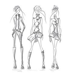 girls jacket gray vector image