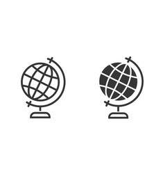globe icon for graphic and web design vector image