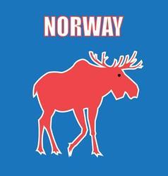 Graphic color design a symbol Norway elk vector image