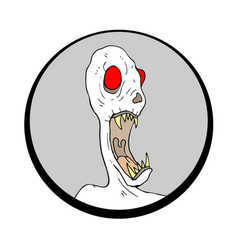 halloween monster face vector image