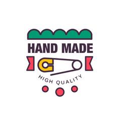 handmade high quality logo template retro vector image
