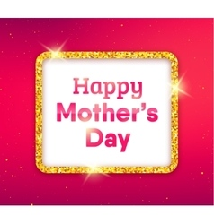 Happy Mothers Day typography greeting card vector