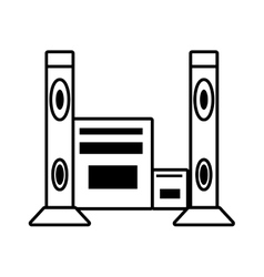 Home theater music video appliance outline vector