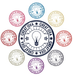 idea stamp vector image