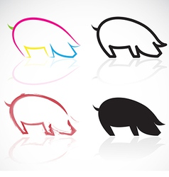 image of an pigs vector image