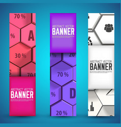 infographic web geometric vertical banners vector image