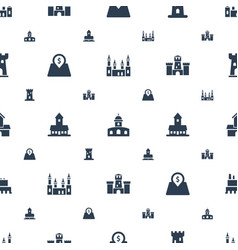 Interest icons pattern seamless white background vector