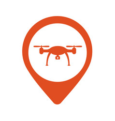 location icon drone flat eps 10 vector image