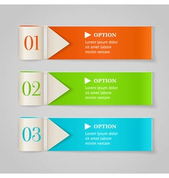Modern numbered options banners vector image vector image