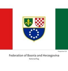 National flag bosnia and herzegovina vector