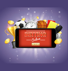 online sports betting poster banner design vector image