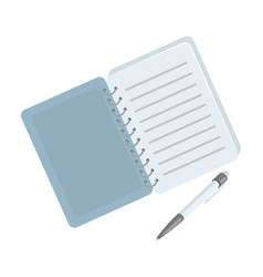 Paper notebook detective notepad to record vector