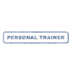 Personal trainer textile stamp vector