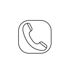 Phone call line icon incoming and vintage vector