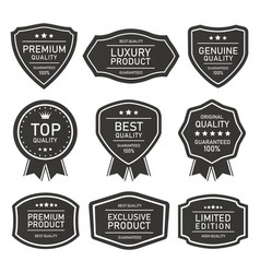 quality product seal badges and labels vector image