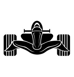 Racing car formula icon simple black style vector