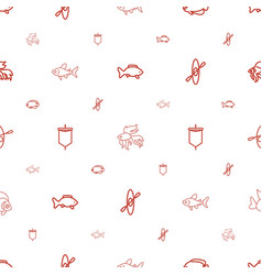 River icons pattern seamless white background vector