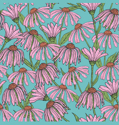 Romantic floral seamless pattern with beautiful vector
