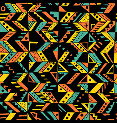 Seamless pattern with ethnic tribal hand-drawn vector
