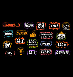 Set labels and stickers for web applications vector