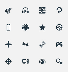 Set of simple play icons vector