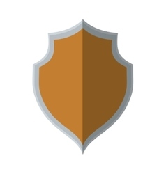 shield protection secure element shadow vector image