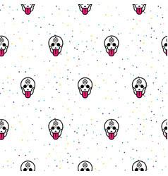 Skull funny seamless pattern vector