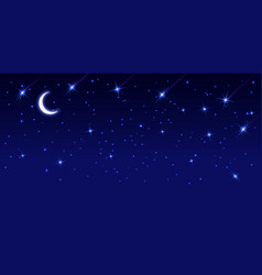 starry sky with bright and dim stars dark starry vector image