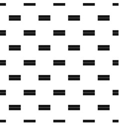 Straight road pattern vector