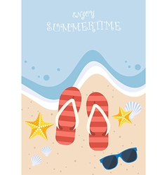 Summertime on beach vector