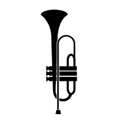 Trumpe music instrument icon with black and white vector image vector image