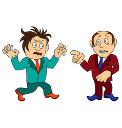Two amusing and funny cartoon men in various vector