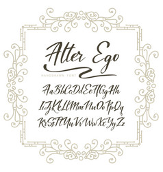 Typography alphabet for your designs logo vector