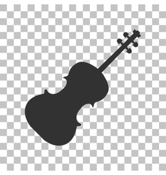 Violine sign Dark gray icon on vector image