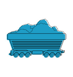 wagon loaded icon vector image