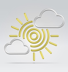 weather partly sunny vector image