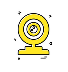 web cam icon design vector image