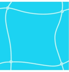White rope square frame vector image