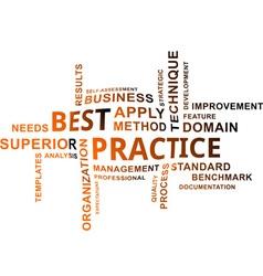 word cloud best practice vector image