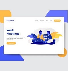 work meeting and discussion concept vector image