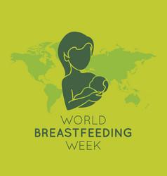world breastfeeding week logo icon vector image