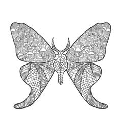 Zentangle stylized butterfly vector