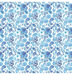 Blue Ethnic Paisley Ornament Pattern vector image vector image