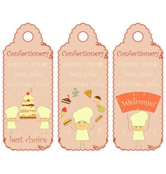 Confectionery labels in Retro style vector image vector image